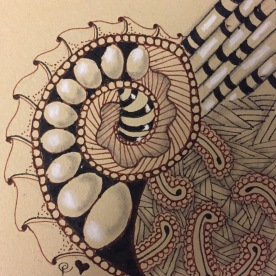 Zentangle - Ren Tile 1
