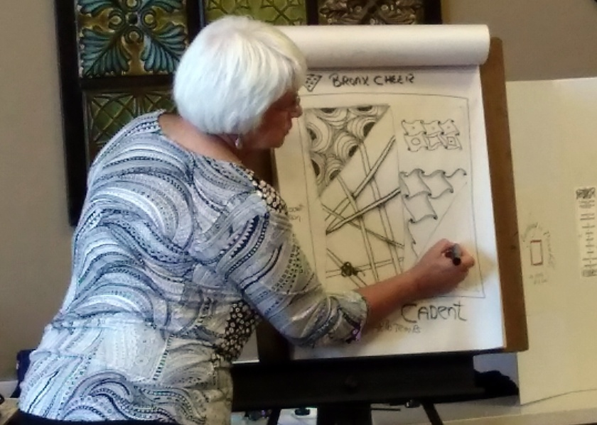 Zentangle - Del Webb - Presenting 2