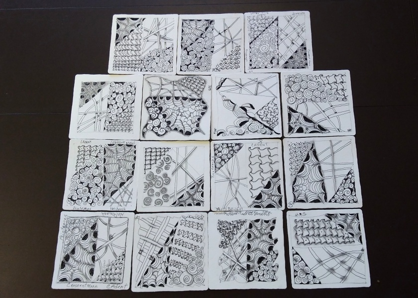 Zentangle - Del Webb - Tile #1