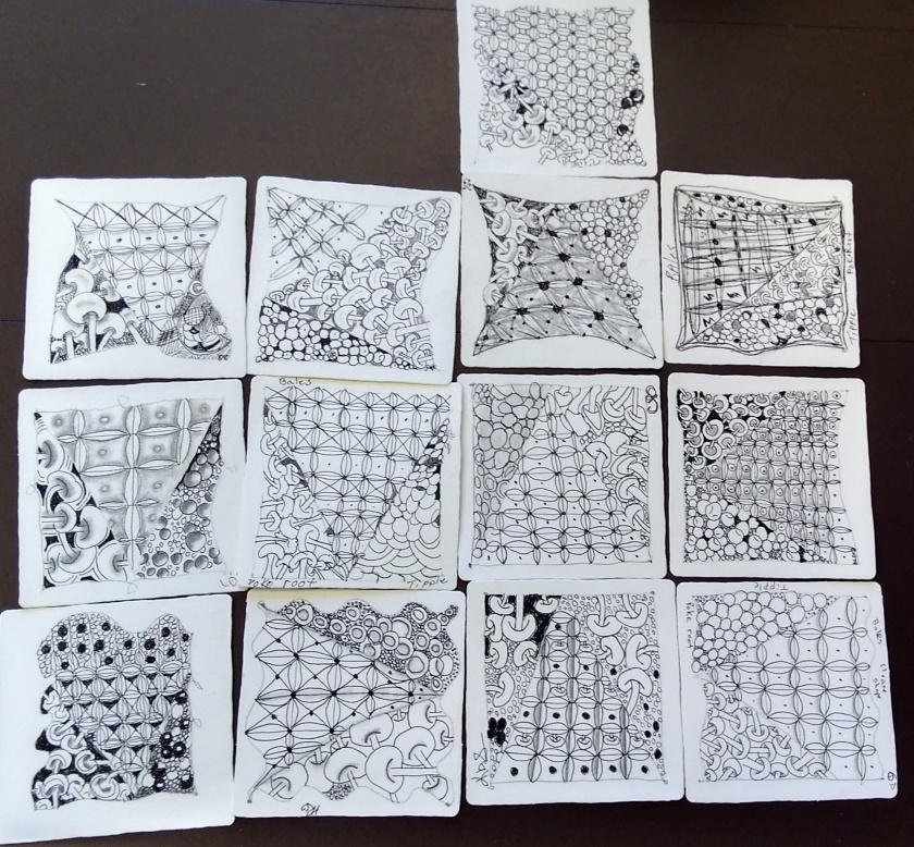 Zentangle - Del Webb Tile #2